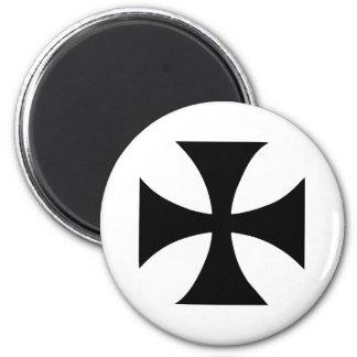 Cross Templar 2 Inch Round Magnet
