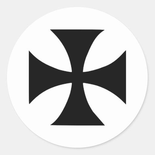 Cross Templar Classic Round Sticker