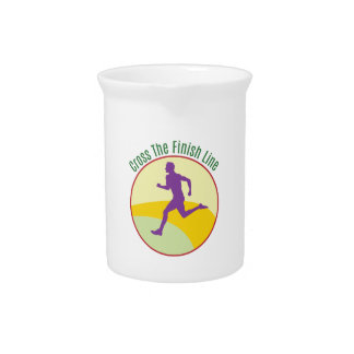 Cross The Finish Line Pitcher