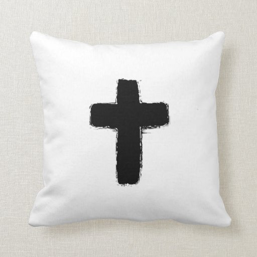 Decorative Pillows With Crosses : Cross Throw Pillow Zazzle