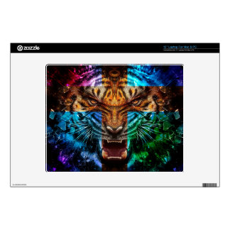 """Cross tiger - angry tiger - tiger face - tiger wil 12"""" laptop decal"""