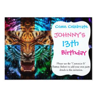 Cross tiger - angry tiger - tiger face - tiger wil card