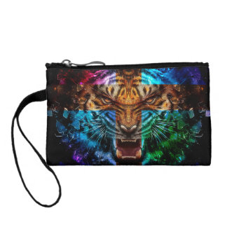 Cross tiger - angry tiger - tiger face - tiger wil change purse