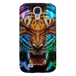 Cross tiger - angry tiger - tiger face - tiger wil galaxy s4 cover
