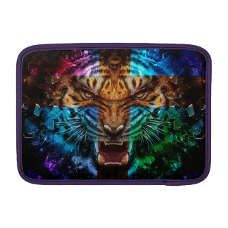 Cross tiger - angry tiger - tiger face - tiger wil MacBook sleeve