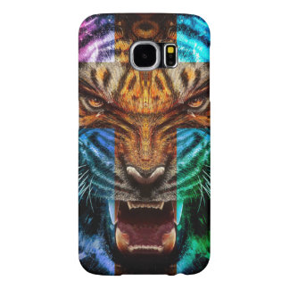 Cross tiger - angry tiger - tiger face - tiger wil samsung galaxy s6 case