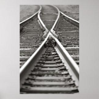 Cross Train Tracks Poster