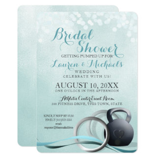 Cross Trainer Bridal Shower Card