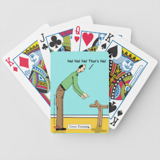 """Cross Training"" Bicycle Playing Cards"