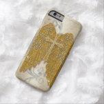 Cross w Glitter Diamond Jewel Look Angel Wings Barely There iPhone 6 Case