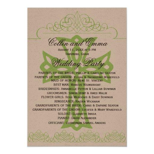 cross wedding programs card zazzle