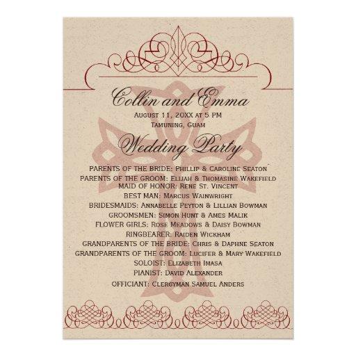 cross wedding programs 5quot x 7quot invitation card zazzle