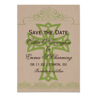 """Cross Wedding Save the Date Cards 5"""" X 7"""" Invitation Card"""