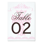 Cross Wedding Table Numbers Card