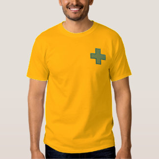 Cross with Background Embroidered T-Shirt