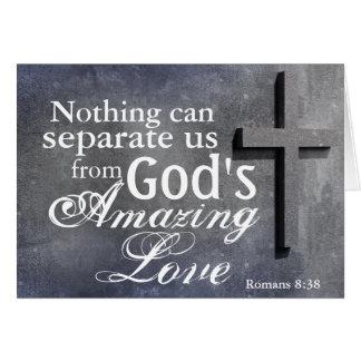Cross with Bible Verse Romans 8:38 Custom Card
