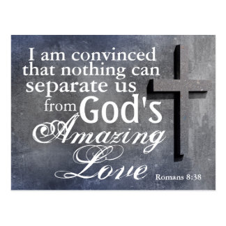 Cross with Bible Verse Romans 8:38 Custom Postcard