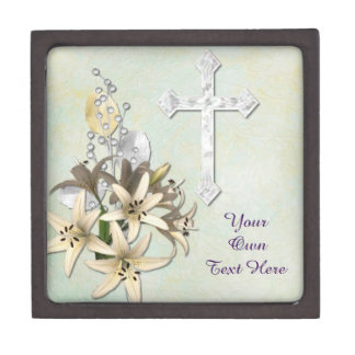 Cross With Bouquet Gift Box