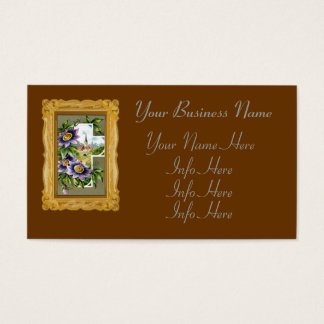 Cross With Clematis Flowers Business Card