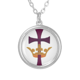 Cross with Crown Tie Necklace Gift Box Etc
