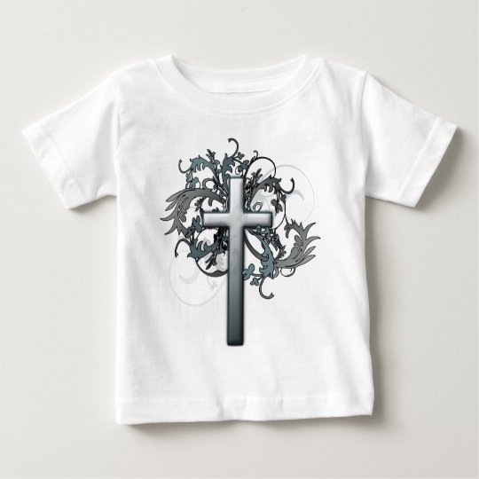 Cross with floral graphics baby T-Shirt