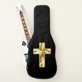Cross with Hearts Edging Electric Guitar Case