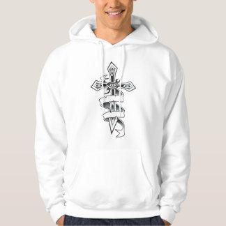 Cross With Ribbon Hoodie