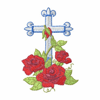 Cross with Roses