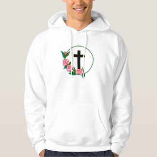 Cross with Roses Pullover