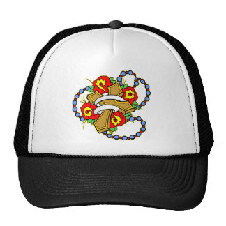 Cross With Roses Tattoo Trucker Hat