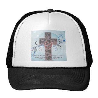 Cross with Scripture Mesh Hat