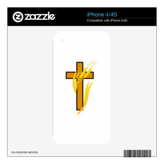 Cross with wheat iPhone 4 skins