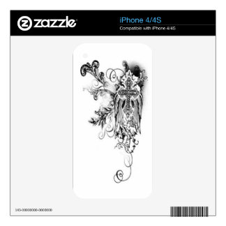 Cross With Wing Case Decal For iPhone 4S