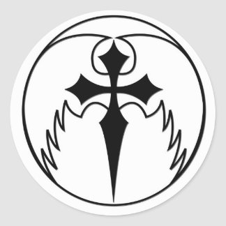 Cross with Wings Sticker
