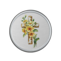 Cross With Yellow Flowers Speaker
