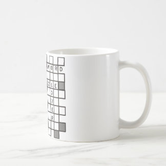 cross word puzzle coffee mug