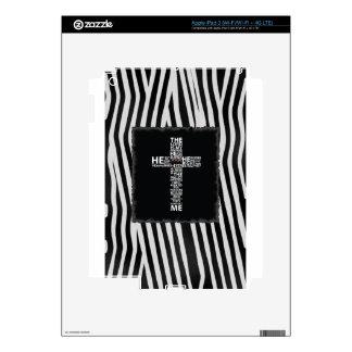 Cross Word Zebra Print Add Text iPad 3 Skins