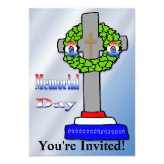 Cross & Wreath -  Memorial Day Invitation
