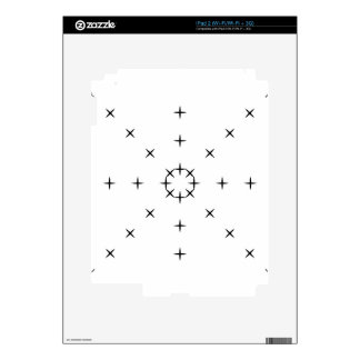 Cross, X, Hatch, Tick Tack Toe Pattern Black White Decal For The iPad 2