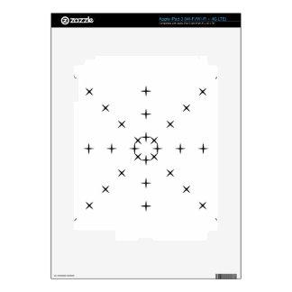 Cross, X, Hatch, Tick Tack Toe Pattern Black White iPad 3 Skin