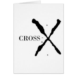 Cross-X Products Greeting Card