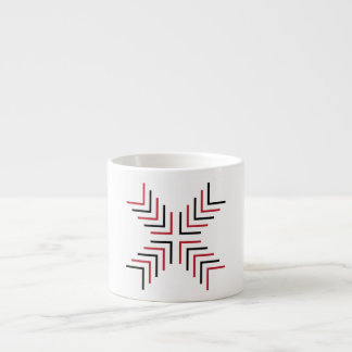 Cross X (red & black) Espresso Cup