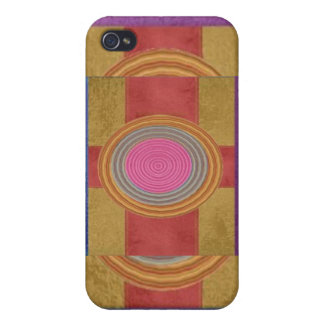 CROSS Your Heart - Art101 Simple Blocks n Circles Cover For iPhone 4