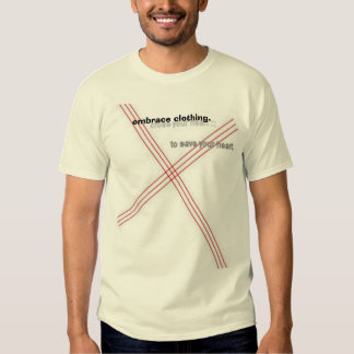 cross your heart., embrace clothing. t shirt
