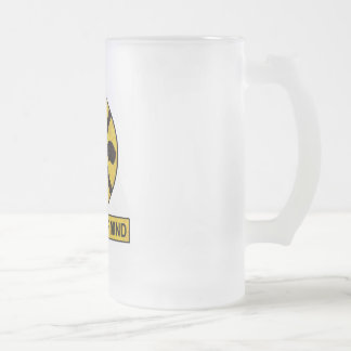 Cross Your Mind Frosted Glass Beer Mug