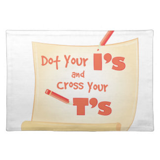 Cross Your Ts Placemat