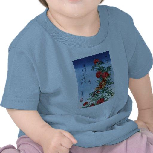 Crossbill en un cardo, Hokusai Camiseta