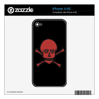 Crossbones 2 decal for iPhone 4