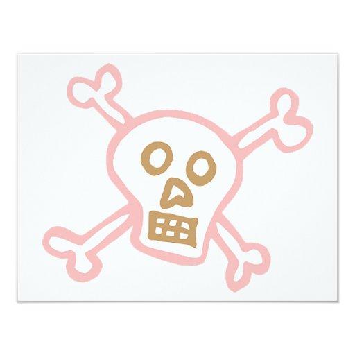 Crossbones! 4.25x5.5 Paper Invitation Card
