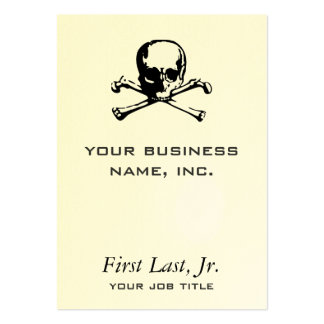 Crossbones Large Business Cards (Pack Of 100)